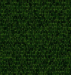 Binary background with green digits vector image