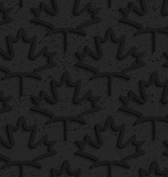 Black textured plastic maple leaves countered vector image vector image