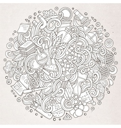 Cartoon cute doodles Science vector image vector image