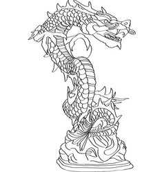 chinese style dragon statue vector image vector image