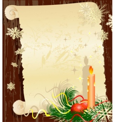 Christmas letter grunge vector image vector image
