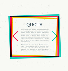 Colorful frame for your text vector