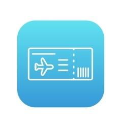 Flight ticket line icon vector