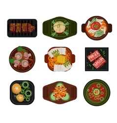 Food korean food vector