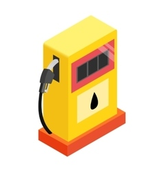 Gas station isometric 3d icon vector image vector image