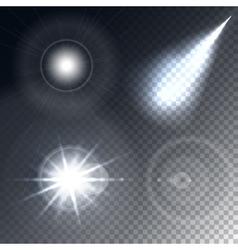 Glowing lights effect vector image