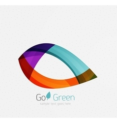 Green concept geometric design eco leaf vector