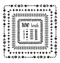 Hand drawn decorative pattern brushes vector image vector image