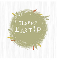 happy easter typographical background vector image vector image
