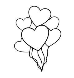 heart balloons icon image vector image vector image