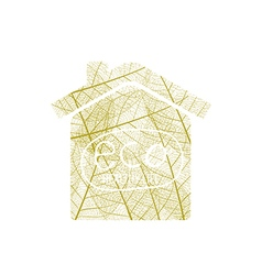 House of autumn leaves vector