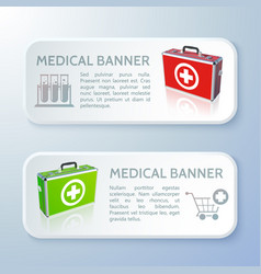 medicine horizontal banners vector image vector image