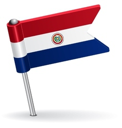 Paraguayan pin icon flag vector image vector image