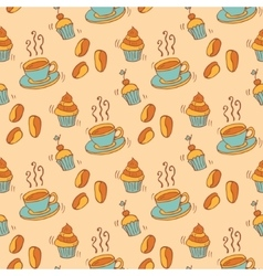 Pattern with ccupcakes vector image vector image