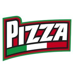 pizza label design pizzeria label vector image vector image
