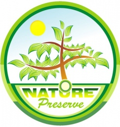 preserve nature tree emblem vector image vector image