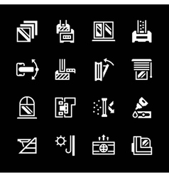 Set icons of modern window vector image