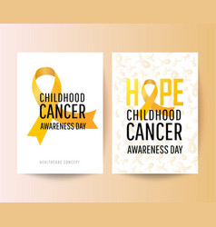 Set posters for childhood cancer awareness day vector