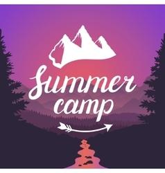 Summer camp logo Summer camp emblem Design vector image