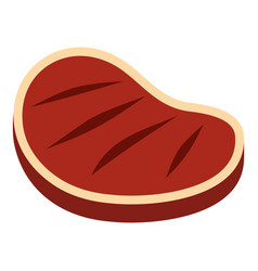 Tenderloin beef steak icon isolated vector