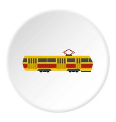 Tram icon circle vector
