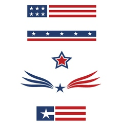 USA set vector image
