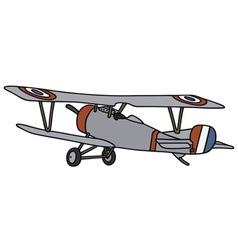 Wintage biplane vector