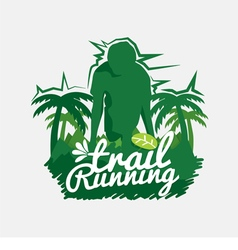 Trail running vector