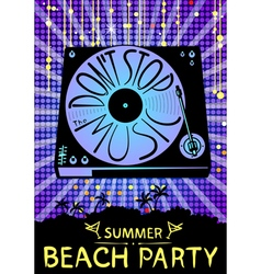 Dont stop the music Design for beach party placard vector image