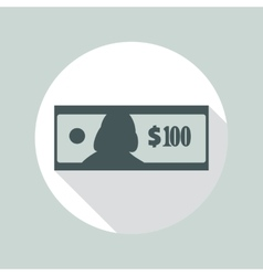 100 dollars banknote icon vector