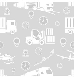 Freight transport seamless pattern vector