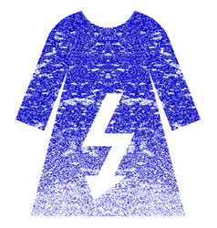 Electric woman dress textured icon vector