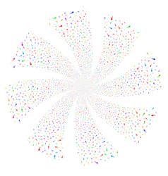 Spermatozoon fireworks swirl rotation vector
