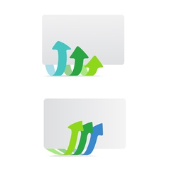 Banner with arrows template vector image