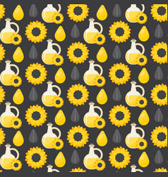 sunflower oil seamless pattern vector image