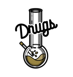 color vintage drugs emblem vector image