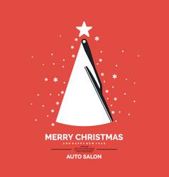 poster for auto salon vector image