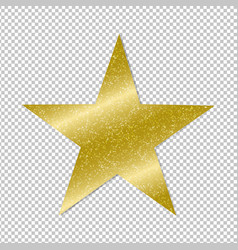 golden star on transparent background vector image