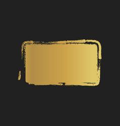 Golden grunge vintage painted rectangle shapes vector
