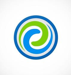 swirl circular abstract logo vector image