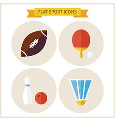 Flat sport website icons set vector