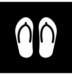 The flip flops icon vacation symbol flat vector