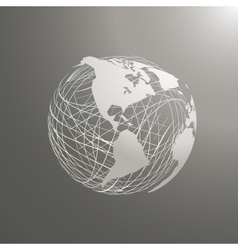 abstract world map sphere America vector image