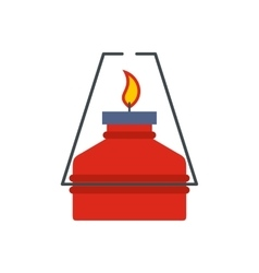 Portable gas burner flat icon vector