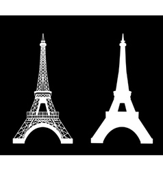 Eiffel tower isolated vector