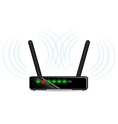 Wifi router with antenna vector
