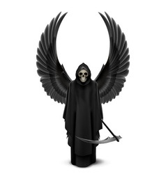 Angel of death with two wings vector