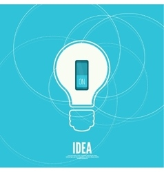 Bulb light idea with switch vector
