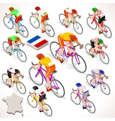 Cyclist 2016 tour france isometric people vector