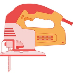 Electric jigsaw tool vector